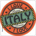 Pannello 10 x 10 cm, Italy love.