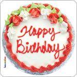 Pannello 10 x 10 cm, torta compleanno.