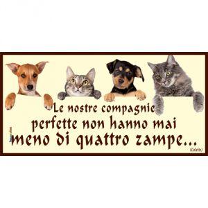 Pannello 10 x 20 cm, cani e gatti.