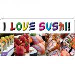 Pannello 10 x 20 cm, i love sushi.