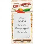 Notes magnetico Chili Peppers