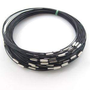 girocollo in filo di acciaio - Nero