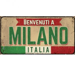 Pannello 10 x 20 cm, Milano targa.
