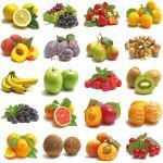 Pannello 20 x 20 cm, frutta 1.