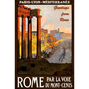 Pannello 20 x 30 cm, Roma poster.