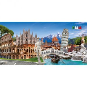 Pannello 20 x 40 cm, Italia puzzle.