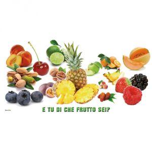 Pannello 20 x 40 cm, puzzle frutta.