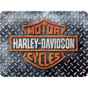 Cartello Harley Davidson - Diamond Plate