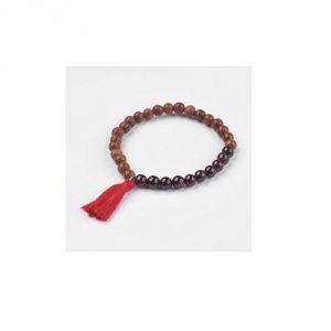 Bracciale tibetano Granato&Legno
