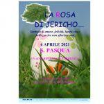 Cartello A4 Rosa di Jericho Pasqua con data