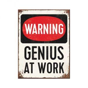 14352 Warning Genius at Work