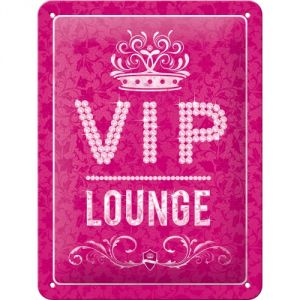 Cartello Vip Lounge rosa