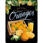 Cartello Enjoy Oranges