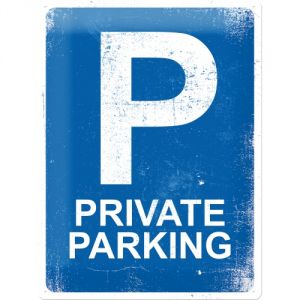 Cartello Private Parking