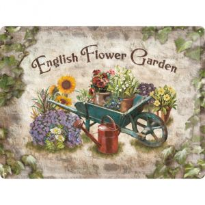 Cartello English Flower Garden