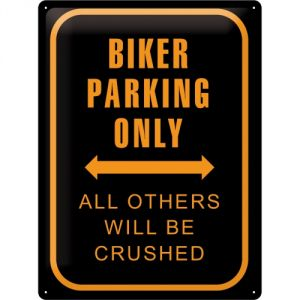 Cartello Biker Parking