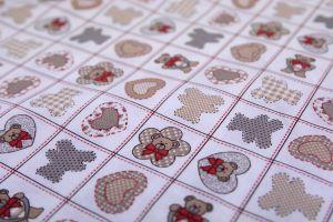 Tessuto cotone stampato Teddy
