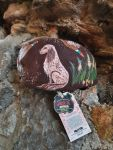 HAND-PAINTED FLAT CAP IN LEATHER