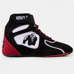GORILLA WEAR CHICAGO HIGH TOPS BLACK/WHITE /RED LIMITED EDITION TG:40