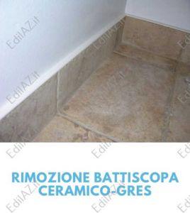 Rimozione battiscopa ceramico-gres Roma