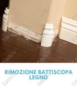 Rimozione, smontaggio battiscopa legno Roma