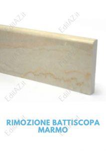 Rimozione battiscopa marmo Roma