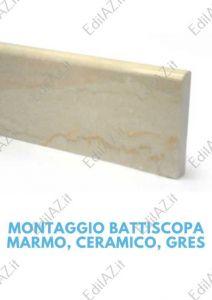 Posa battiscopa marmo, gres porcellanato Roma