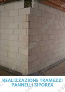 Realizzazione tramezzi/pareti pannelli siporex Roma