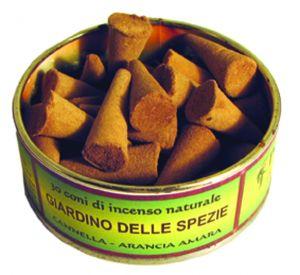 Confezione con 30 conetti di incenso (India): 18 fragranze disponibili