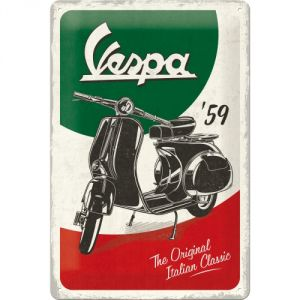 Cartello 20 x 30 cm Vespa - The Italian Classic