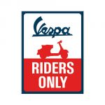 Magnete 6 x 8 cm Vespa - Riders Only