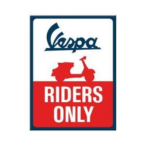 Magnete 6 x 8 cm Vespa - Riders Only