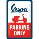 Cartello 20 x 30 cm, Vespa - Parking Only