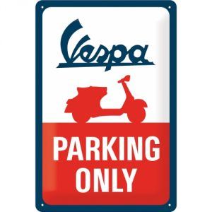 Cartello 20 x 30 cm, Vespa - Parking Only