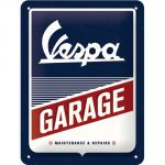 Cartello 15 x 20 cm, Vespa - Garage