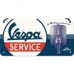 Cartello 10 x 20 cm con filo, Vespa - Service