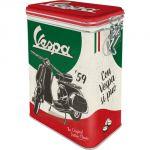 """Scatola """"L"""" con chiusura ermetica 11 x 8 x h 18 cm, Vespa - The Italian Classic"""