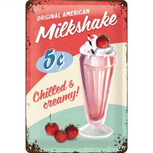 Cartello Milkshake
