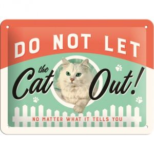 Cartello Do Not Let Cat Out