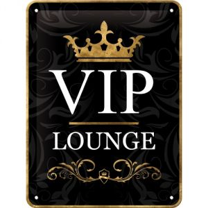 Cartello Vip Lounge nero