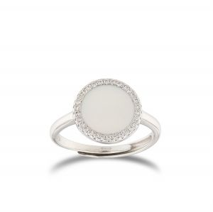 Round-shape mother of Pearl ring