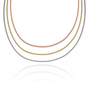 Fope necklaces with three plate