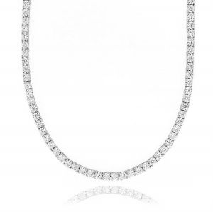 Tennis necklace with claw - 3 mm