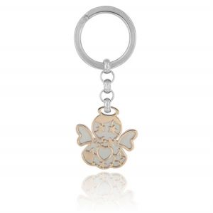 Angel steel key ring
