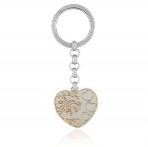 Heart steel key ring