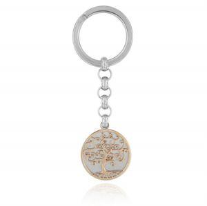 Tree of life steel key ring
