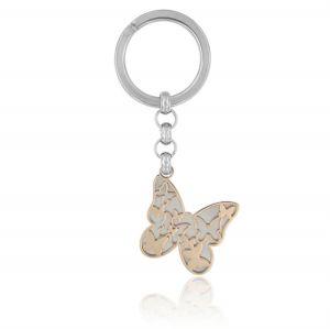 Butterfly steel key ring