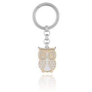 Owl steel key ring