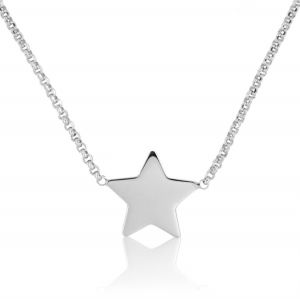Small glossy star necklace