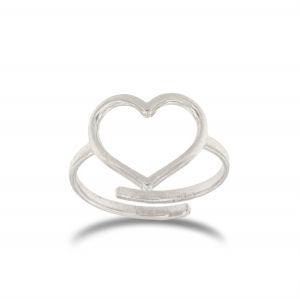 Adaptable wire heart ring - different heart sizes available